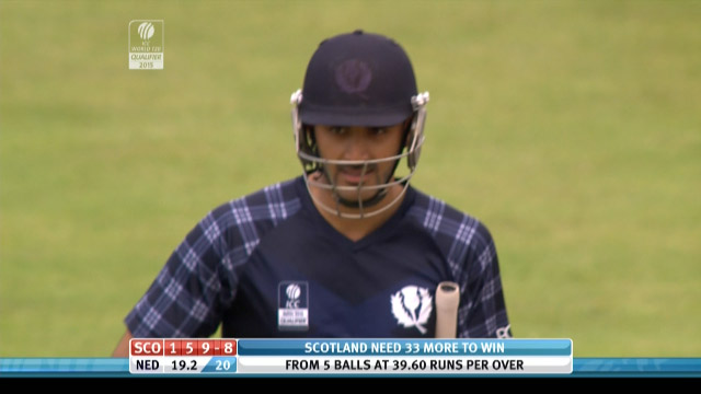 Safyaan Sharif Wicket – SCO vs NED