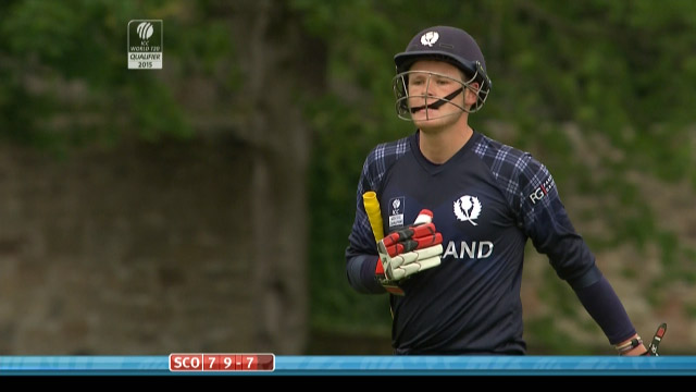 Michael Leask Wicket – SCO vs NED