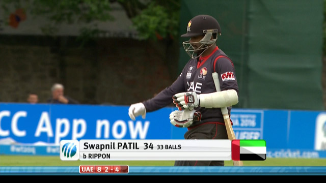 Swapnil Patil Wicket – UAE vs NED