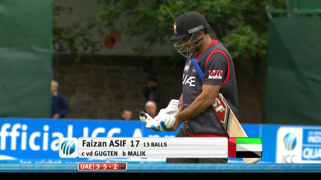 Faizan Asif Wicket – UAE vs NED
