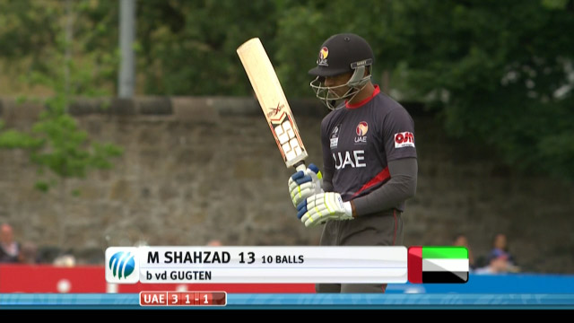 Mohammad Shahzad Wicket – UAE vs NED
