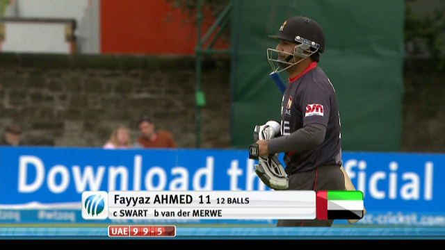 Fayyaz Ahmed Wicket – UAE vs NED
