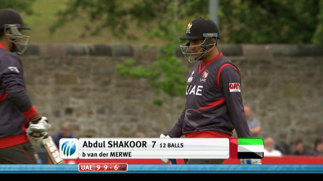 Abdul Shakoor Wicket – UAE vs NED