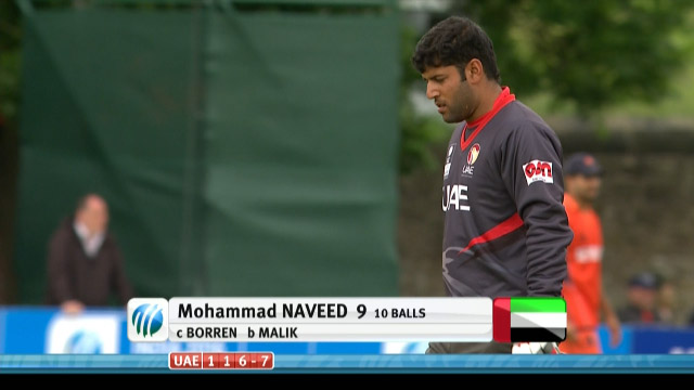 Mohammad Naveed Wicket – UAE vs NED