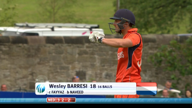 Wesley Barresi Wicket – UAE vs NED