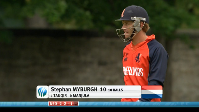 Stephan Myburgh Wicket – UAE vs NED