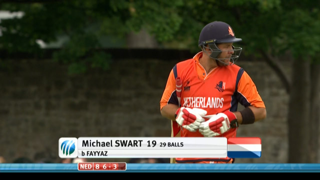 Michael Swart Wicket – UAE vs NED