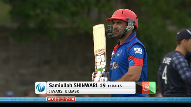 Samiullah Shinwari Wicket – SCO vs AFG