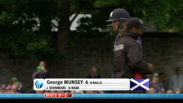 George Munsey Wicket – SCO vs AFG