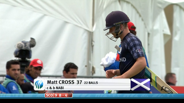 Matthew Cross Wicket – SCO vs AFG