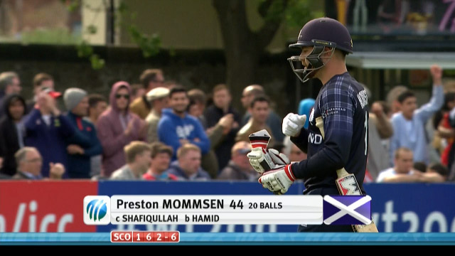 Preston Mommsen Wicket – SCO vs AFG