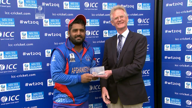 Player of the Match- Mohammad Shahzad – SCO vs AFG