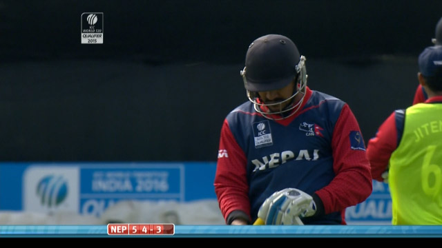 Pradeep Singh Airee Wicket – NEP vs PNG