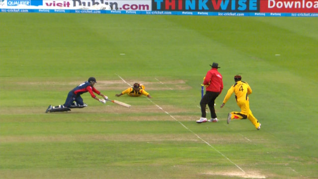 Dai's diving run-out