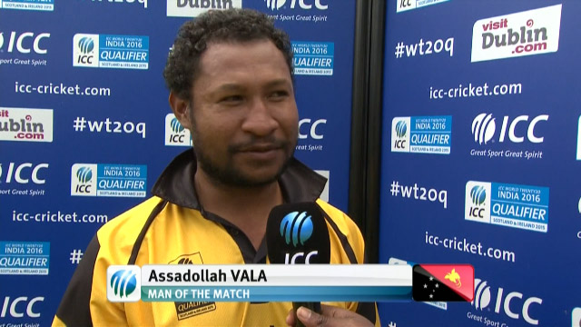 Player of the Match- Assad Vala – NEP vs PNG