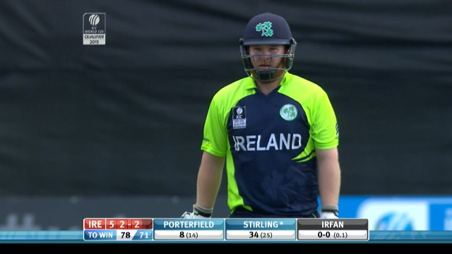 Paul Stirling Wicket – IRE vs HK