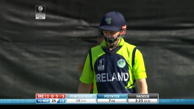 William Porterfield Wicket – IRE vs HK