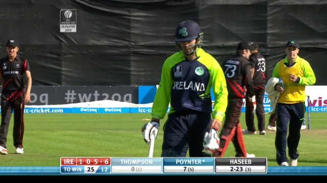Stuart Thompson Wicket – IRE vs HK