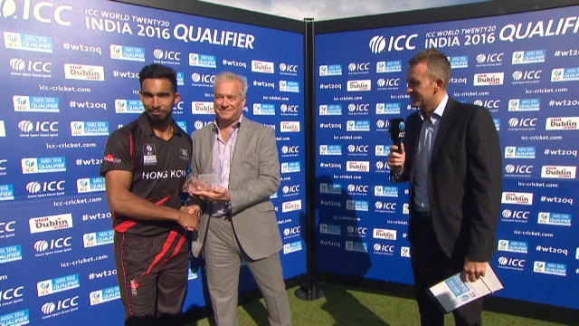 Player of the Match- Irfan Ahmed – IRE vs HK