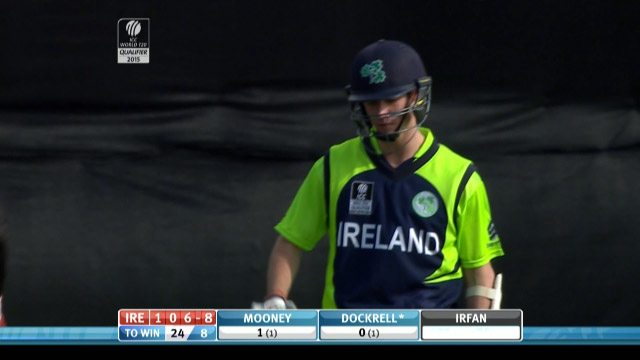 George Dockrell Wicket – IRE vs HK