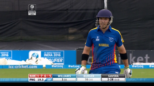 Namibia innings wickets