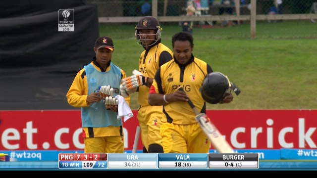 Tony Ura Wicket – PNG vs NAM