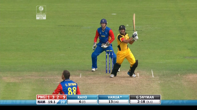 Norman Vanua Wicket – PNG vs NAM