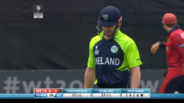 William Porterfield Wicket – IRE vs JER