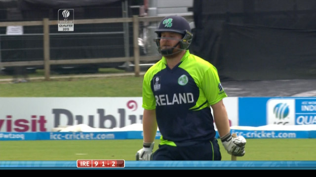 Paul Stirling Wicket – IRE vs JER