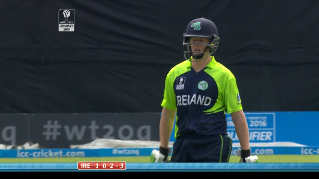 Kevin O'Brien Wicket – IRE vs JER