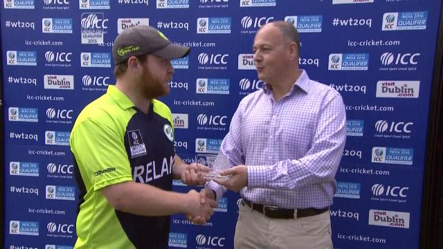 Player of the Match- Paul Stirling – IRE vs JER