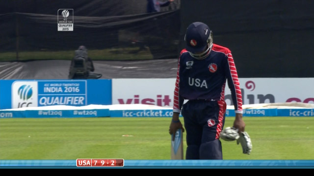 Akeem Dodson Wicket – USA vs PNG