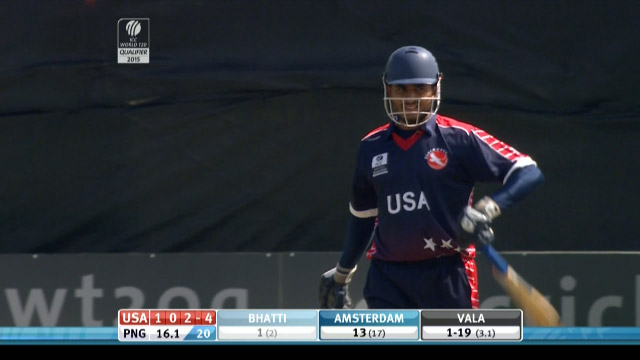 Adil Bhatti Wicket – USA vs PNG