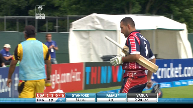 Naseer Jamali Wicket – USA vs PNG