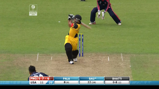 Papua New Guinea innings super shots