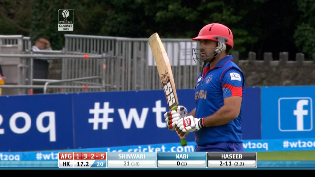 Afghanistan innings wickets