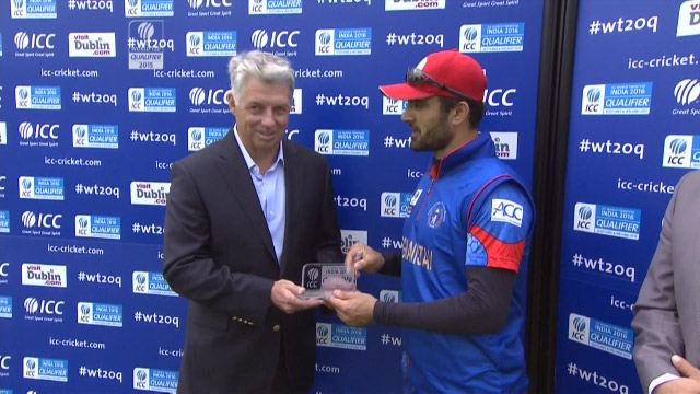 Player of the Match- Nawroz Mangal – AFG vs HK