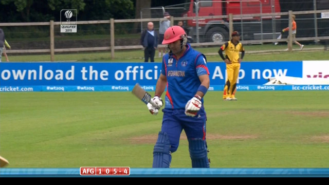 Mohammad Nabi Wicket – PNG vs AFG