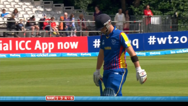 Stephan Baard Wicket – NAM vs OMA