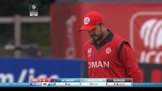 Zeeshan Maqsood Wicket – NAM vs OMA