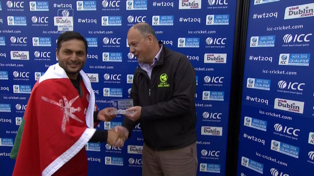 Player of the Match- Zeeshan Siddiqui  – NAM vs OMA