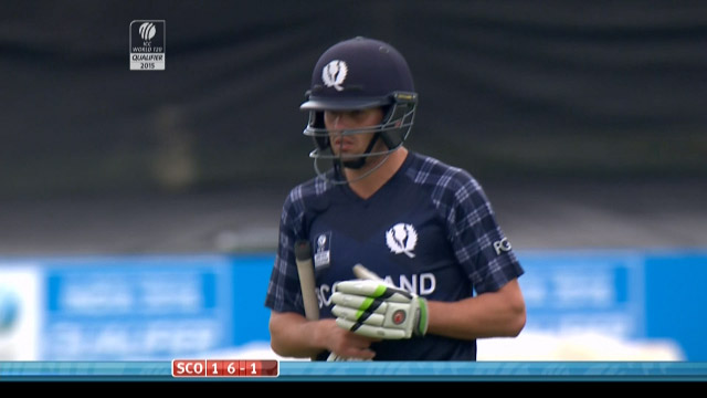 Calum MacLeod Wicket – SCO vs HK
