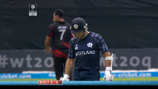 Scotland innings wickets