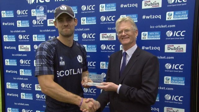 Player of the Match- Rob Taylor – SCO vs HK