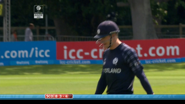 Richie Berrington Wicket – SCO vs HK