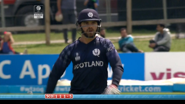 Preston Mommsen Wicket – SCO vs HK