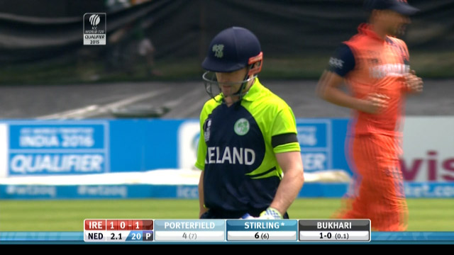 William Porterfield Wicket – IRE vs NED