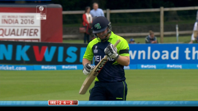 Paul Stirling Wicket – IRE vs NED