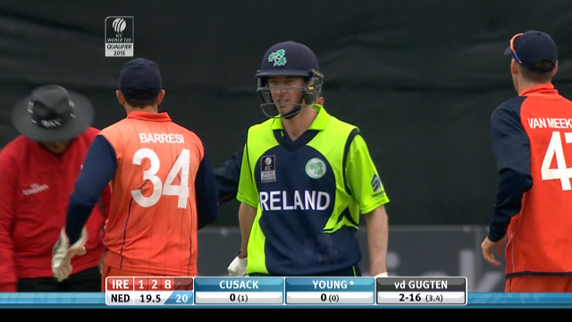 Alex Cusack Wicket – IRE vs NED