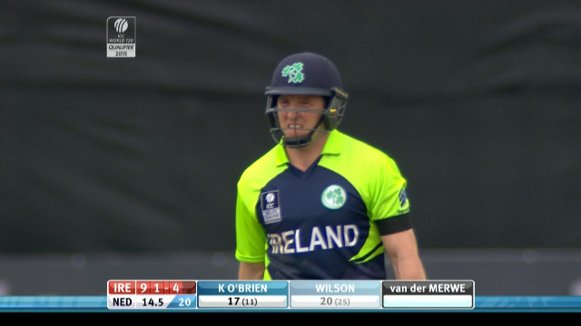 Gary Wilson Wicket – IRE vs NED